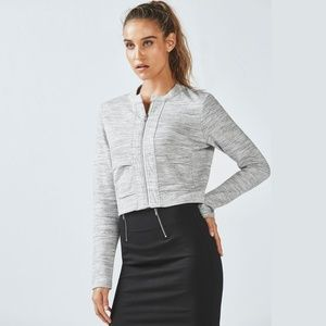 Fabletics Magnolia Spacedye Heather Gray Jacket